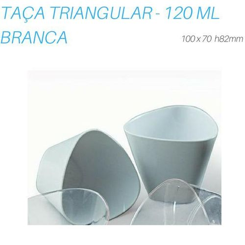 TAÇA TRIANGULAR BRANCA, 120 ML