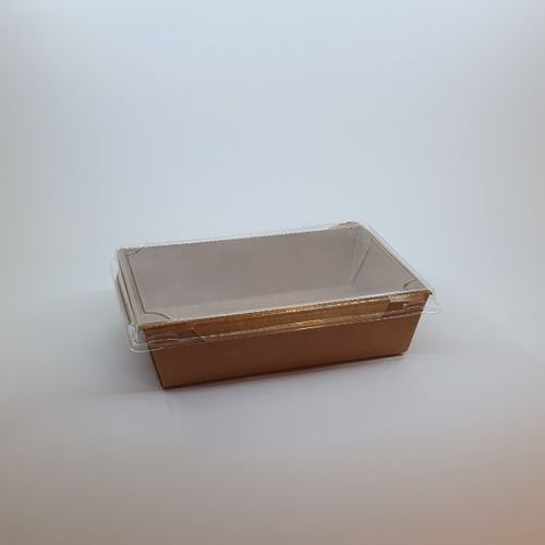SALADEIRA RECTANGULAR C/ TAMPA 700 ML